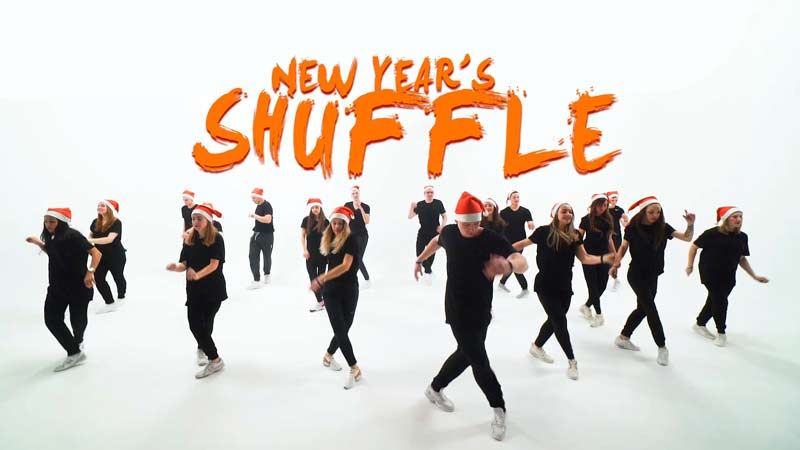 Новогоднее Шафл видео с учениками